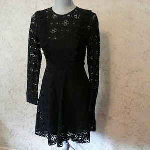 Zara Woman black lacy dress
